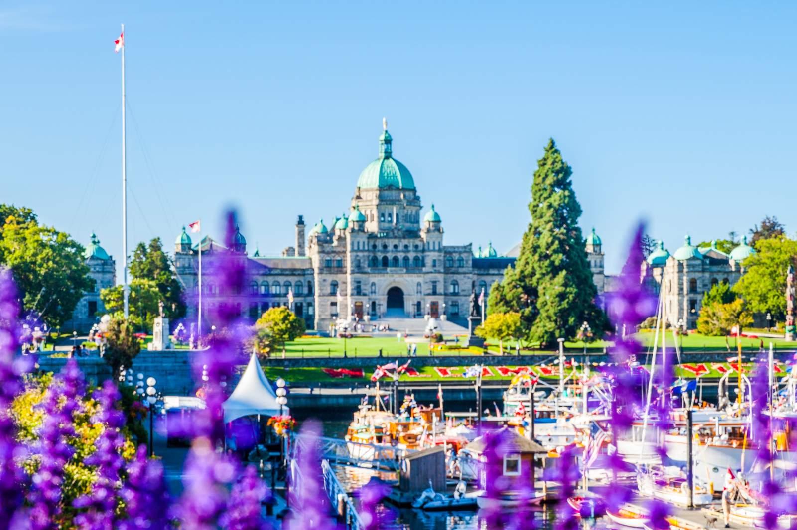 Inner Harbour - Blumen und Parlament