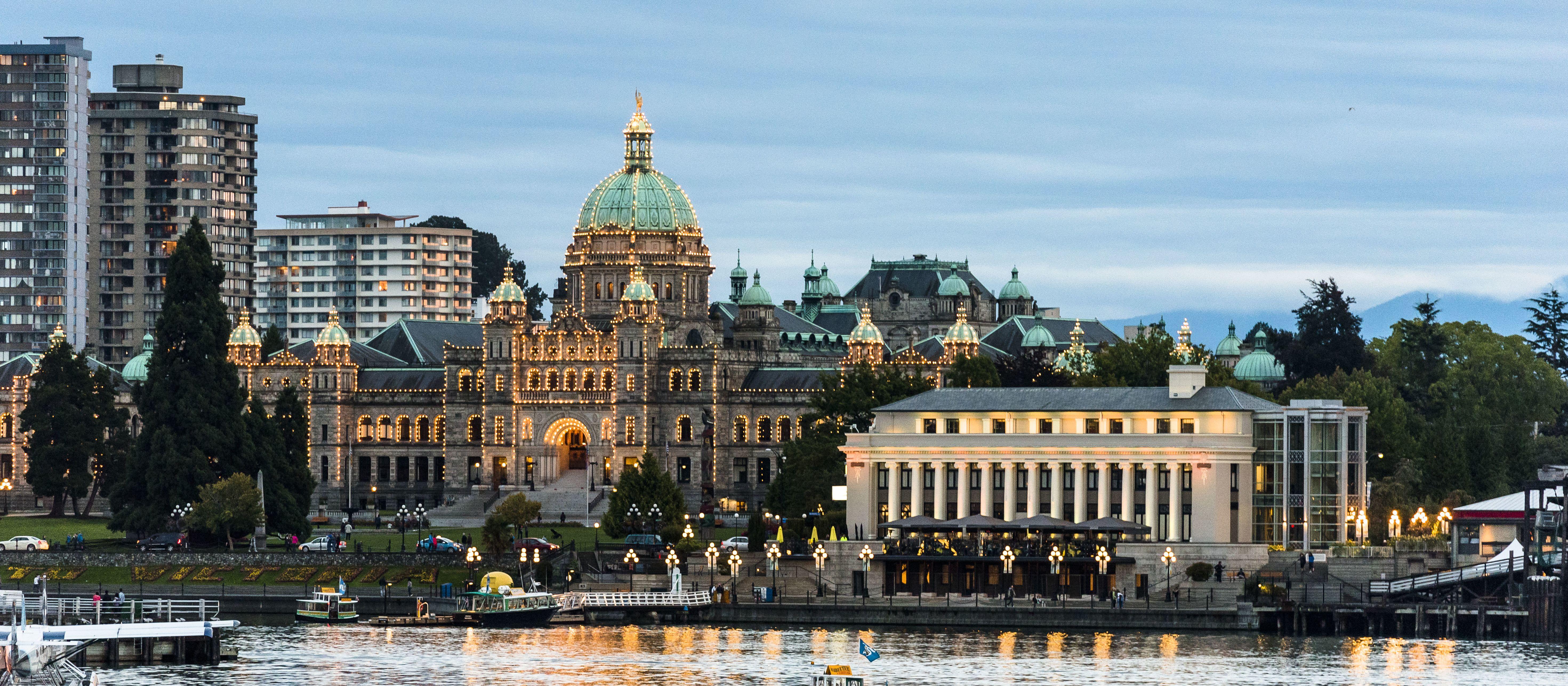 Parlamentsgebäude in Victoria auf Vancouver Island, British Columbia