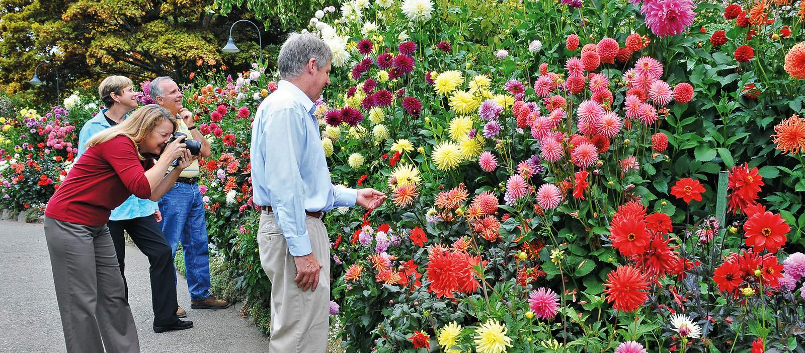 Besucher in den Butchart Gardens