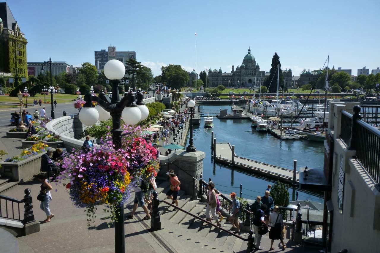 Der Hafen von Victoria