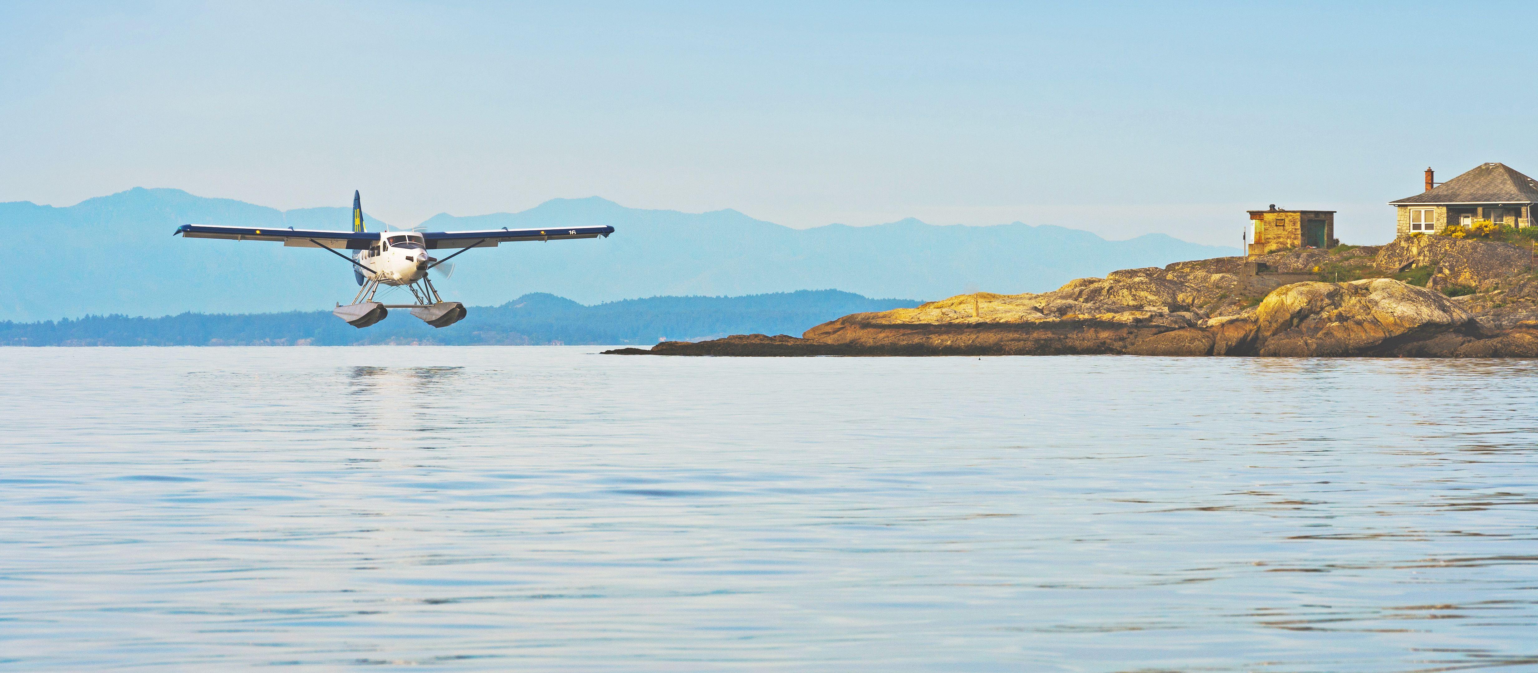 Landung im Hafen von Victoria