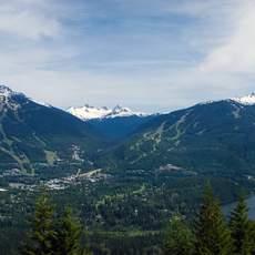 Sicht auf Dual Mountains