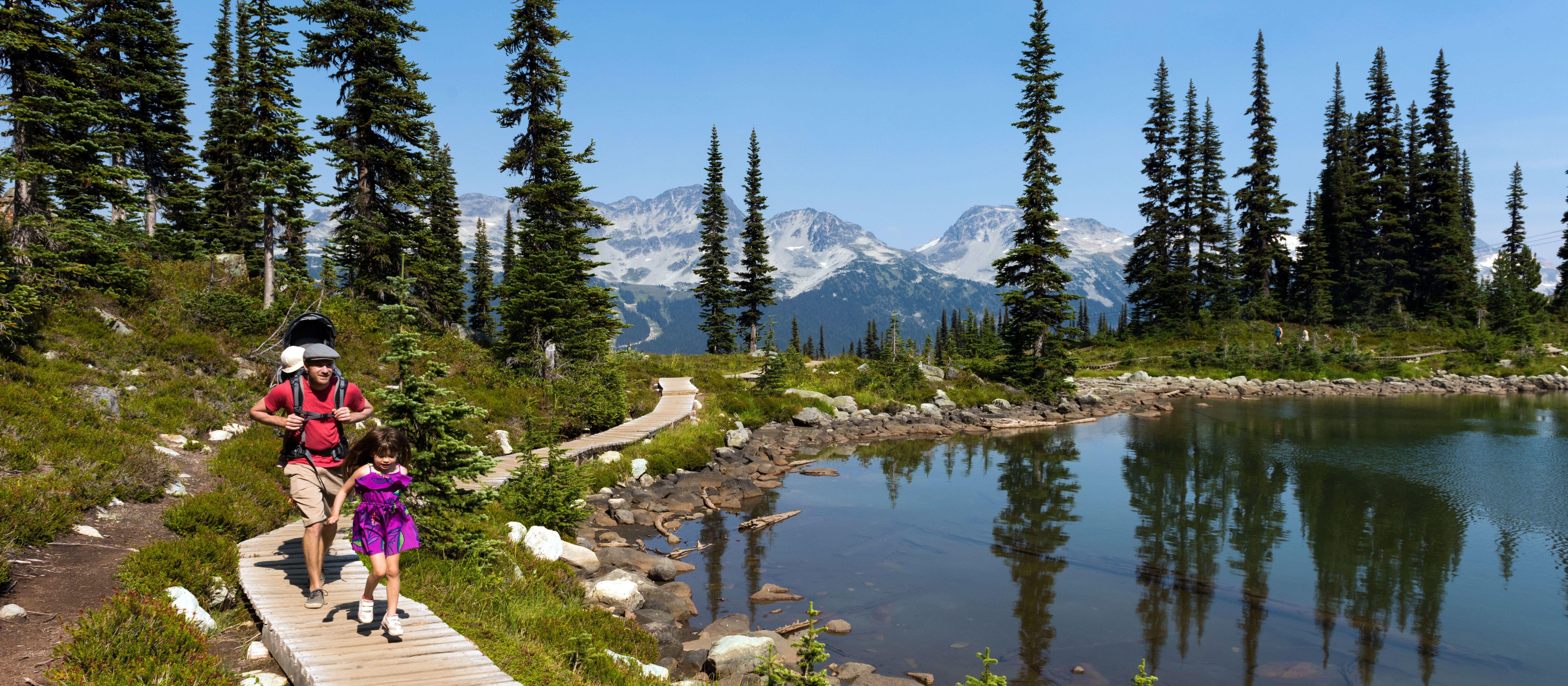 Wanderung am Harmony Lake