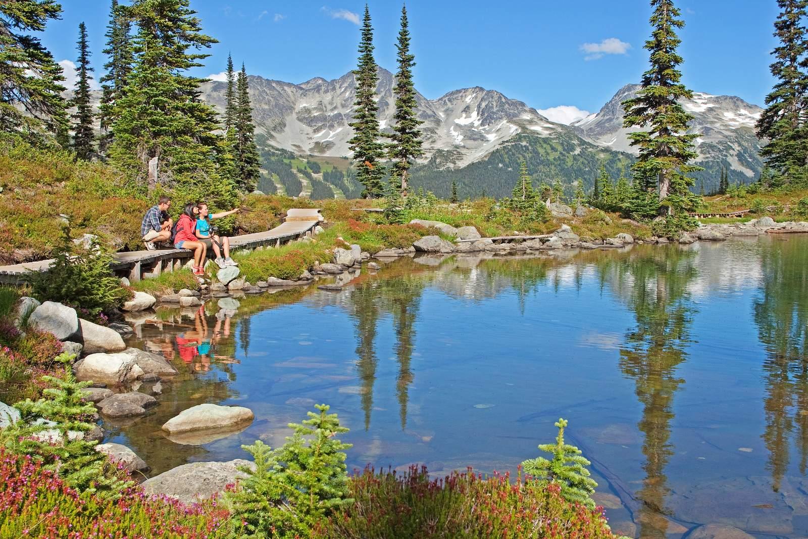 Wanderer am Harmony Lake
