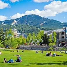 Whistler: Olympic Plaza im Sommer