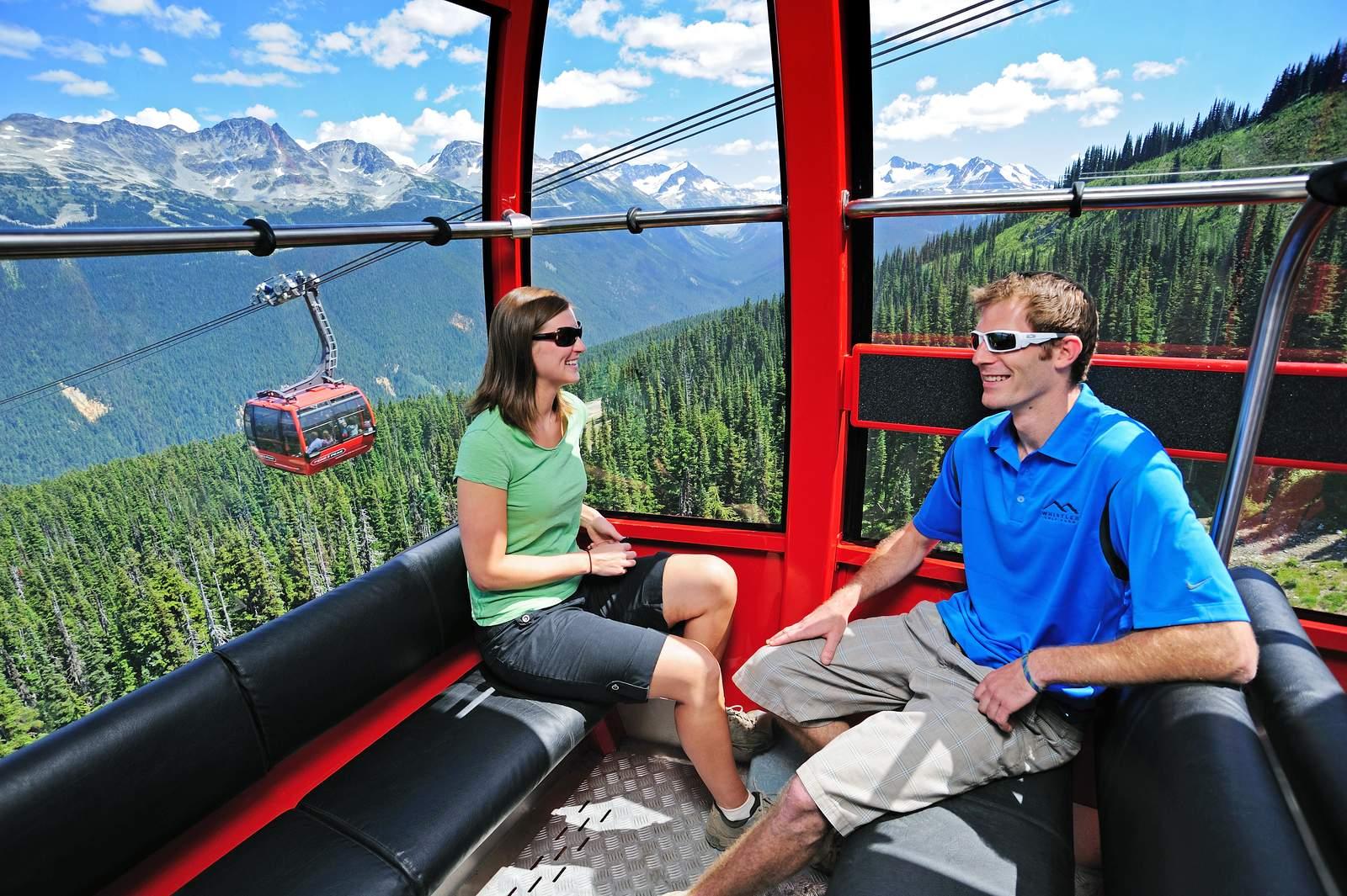 Unterwegs mit der Peak 2 Peak Gondola