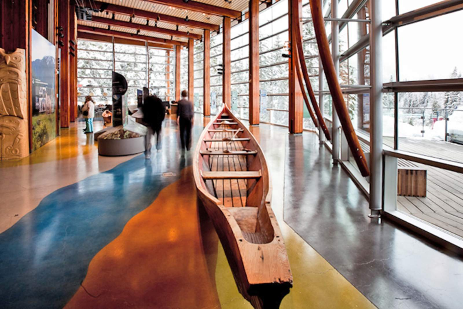 Ausstellungshalle des Squamish Lil'wat Cultural Centre