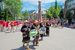 Trommler von Kanada Day in Whistler