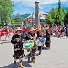 Whistler: Trommler am Canada Day