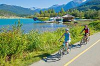 Valley Trail der Mountainbike Park in Whistler