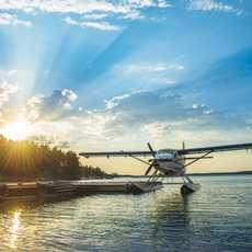 Ein Flugzeug des Fly-In Fishing Adventures in Manitoba, Kanada