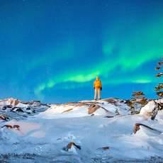 Das Polarlicht geniessen