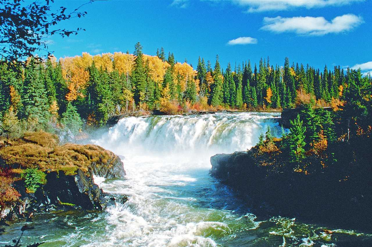 Wasserfall im Pisew Falls Provincial Park