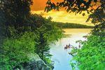 Kanufahrer auf dem Caddy Lake