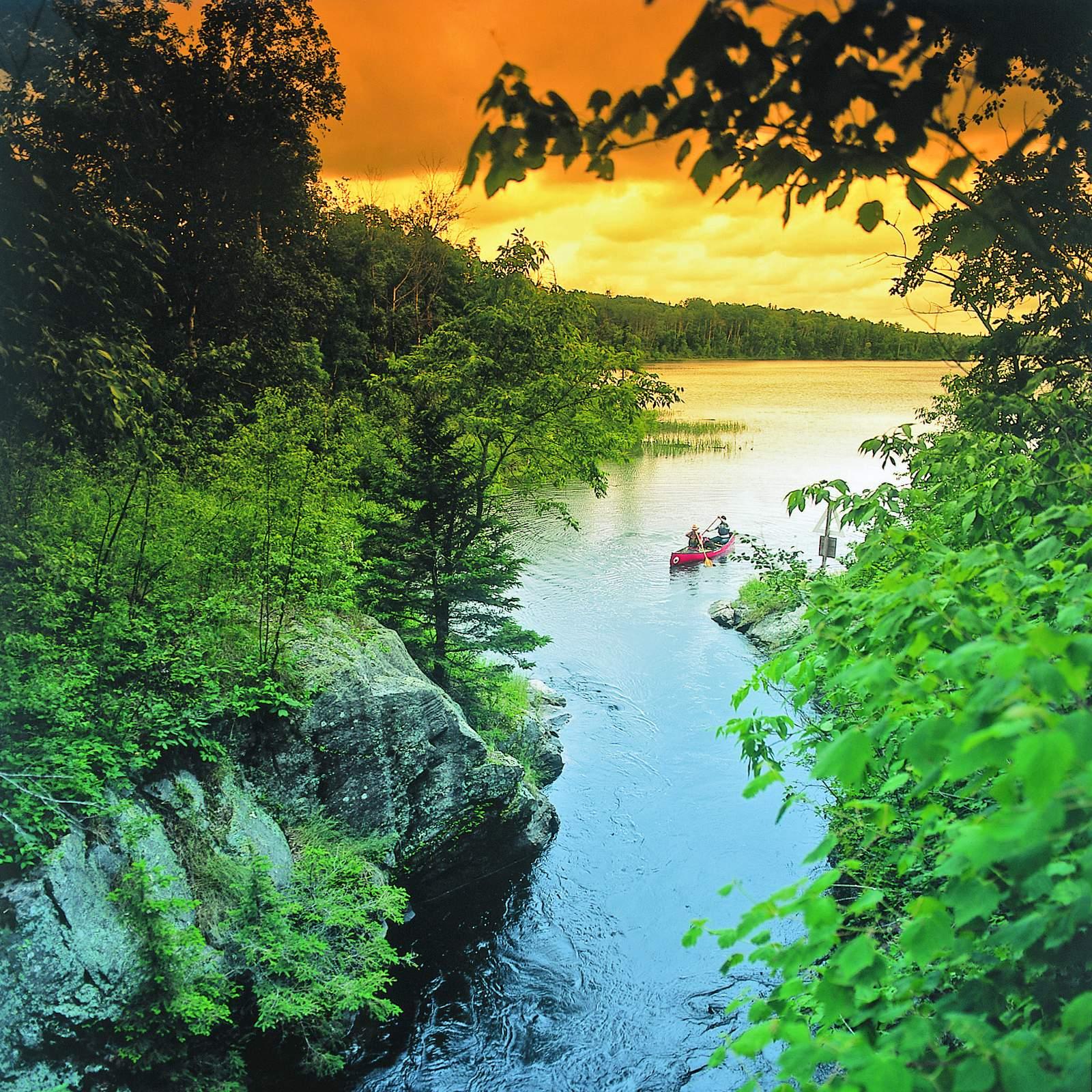 Kanutour am Caddy Lake