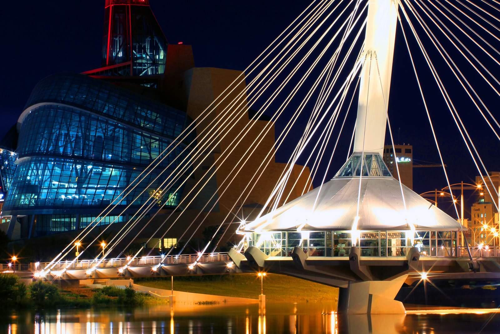 Seifenblasen bei The Forks in Winnipeg, Manitoba