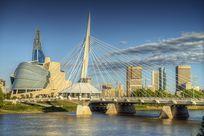 Skyline von Winnipeg Kanada bei Tag
