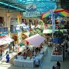 The Forks Market Courtyard in Winnipeg, Manitoba