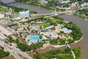 Luftaufnahme von Winnipeg in Kanada