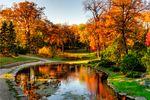 Kildonan Park in Winnipeg im Herbst