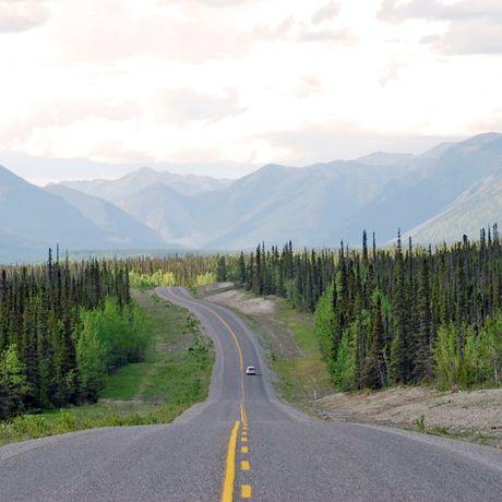 Highway in den Northwest Territories