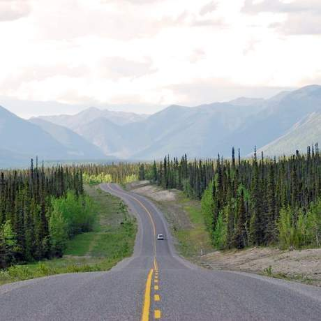 Highway in den Northwest Territories