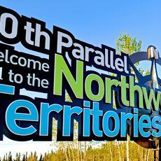 Willkommensschild Northwest Territories