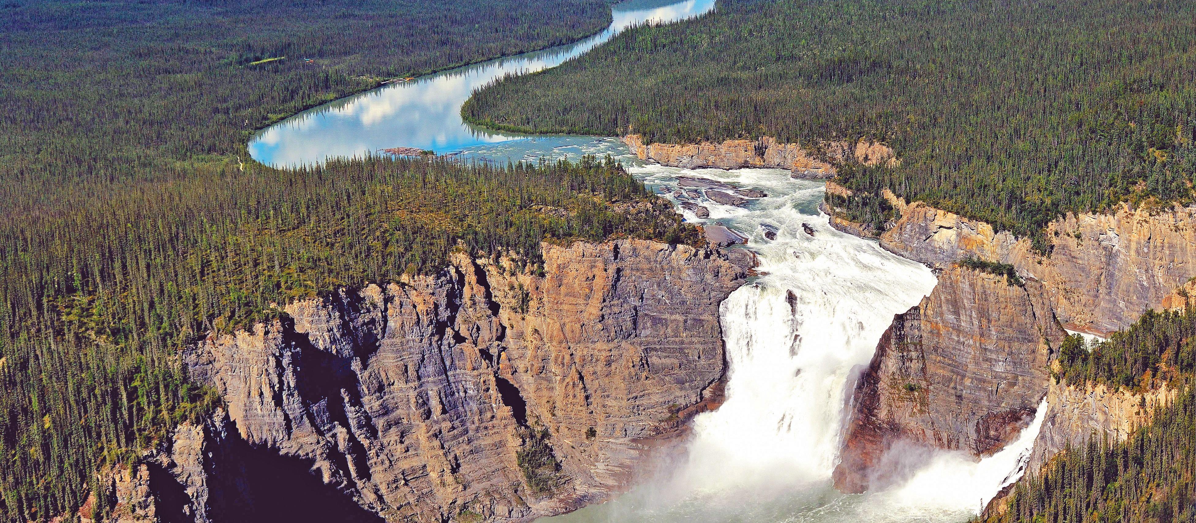 Blick auf die Virgina Falls