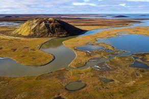 Die Weiten der Pingo National Landmark in den Northwest Territories