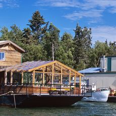 Hausboote in Yellowknife
