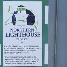 Northern Lighthouse Projekt Schild