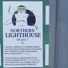 Northern Lighthouse Projekt Schild