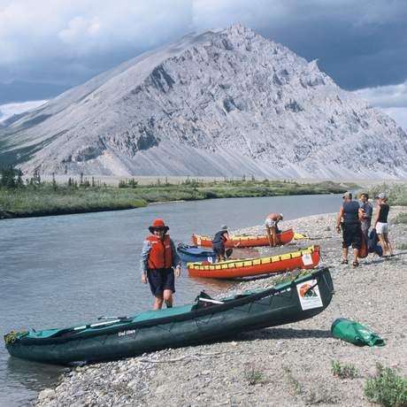 Kanu Ausflug im im äußersten Nordwesten Kanadas - Yukon