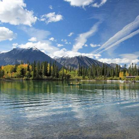 Kathleen Lake in Yukon, Kanada