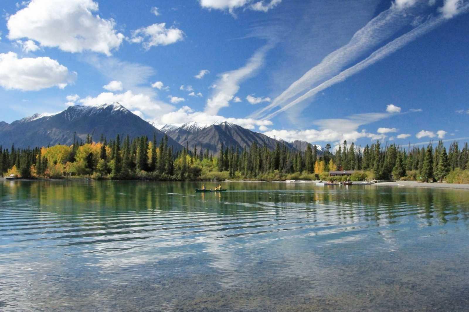 Kathleen Lake in Yukon, Kanada