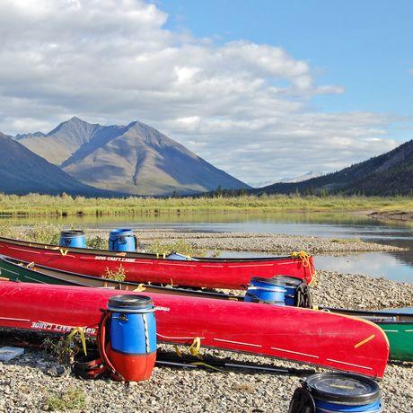 Kanu-Tour auf dem Wind River
