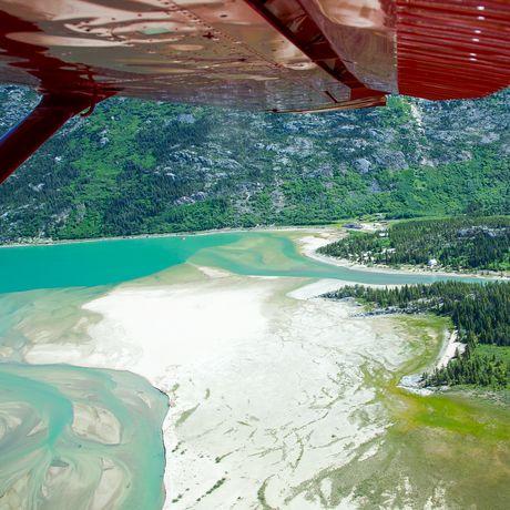 Aussicht aus Flugzeug in Yukon, Canada