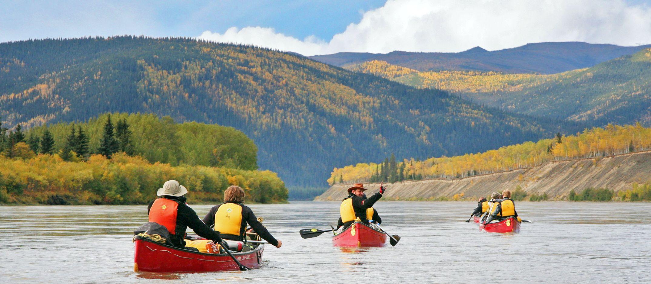Kanu-Tour auf dem Yukon River