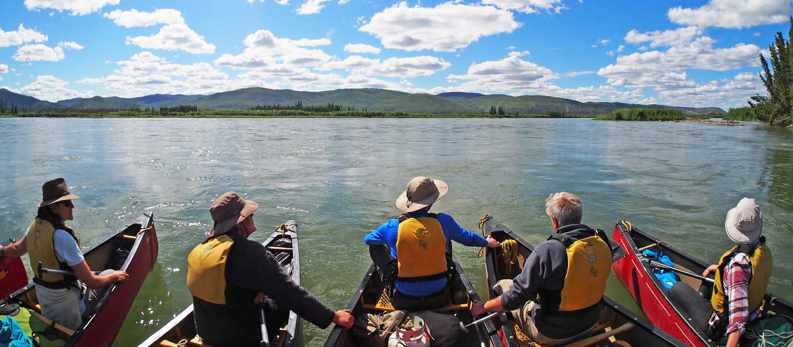 Kanutour auf dem Yukon River von Lake Laberge to Dawson City; Yukon Territory