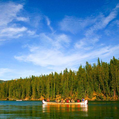 Kanu auf Yukon River in Yukon, Canada