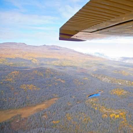 Rundflug ueber den Kluane National Park