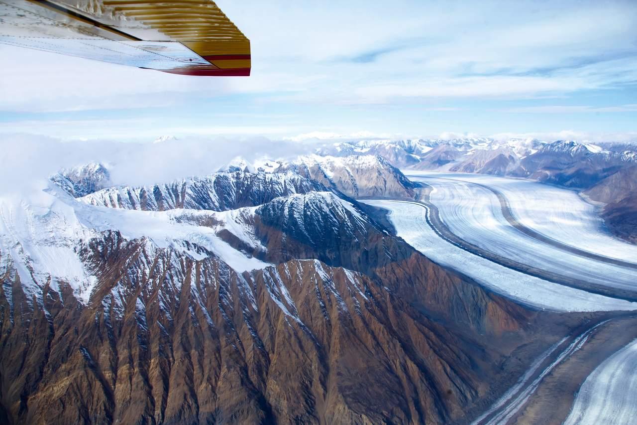 Einer der Gletscher im Kluane National Park