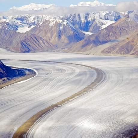Blick auf das Kluane Icefield