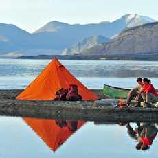 Camping am Kluane Lake