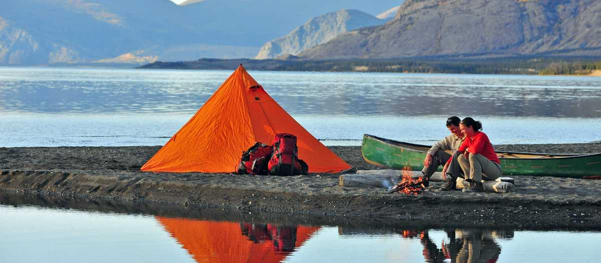 Camping am Kluane Lake