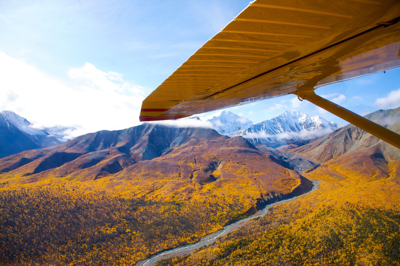 Luftansicht vom Kluane National Park in Yukon, Canada