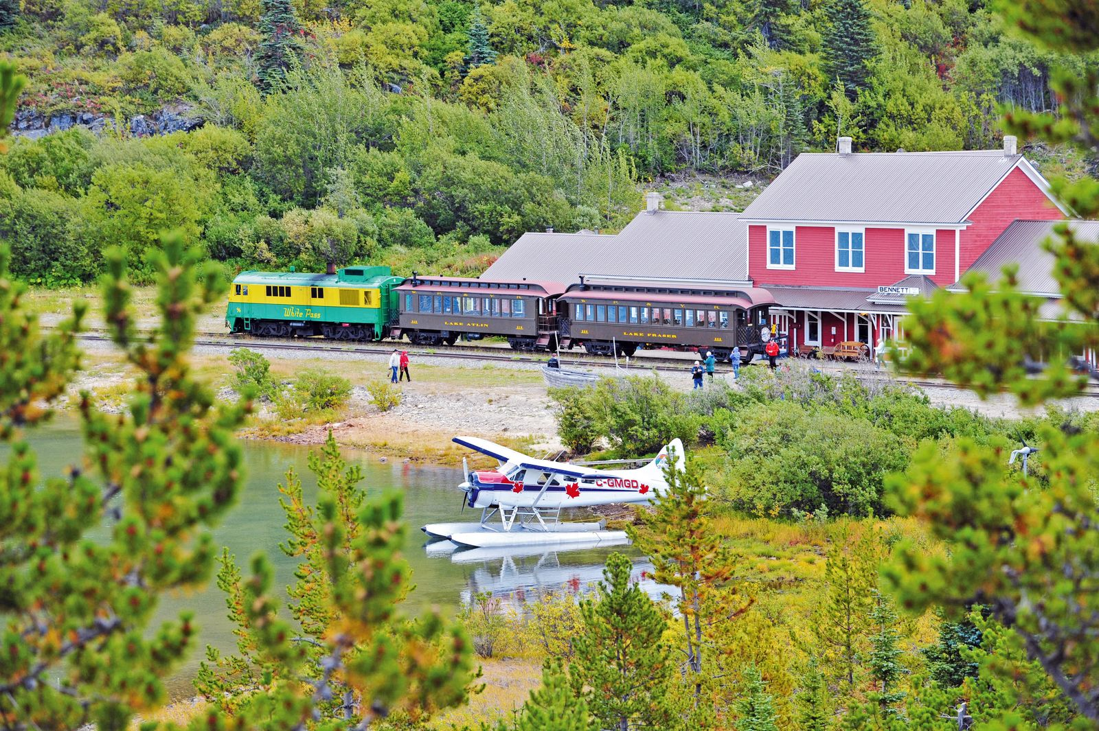 Bahnhof der White Pass & Yukon Route Railway am Lake Bennett