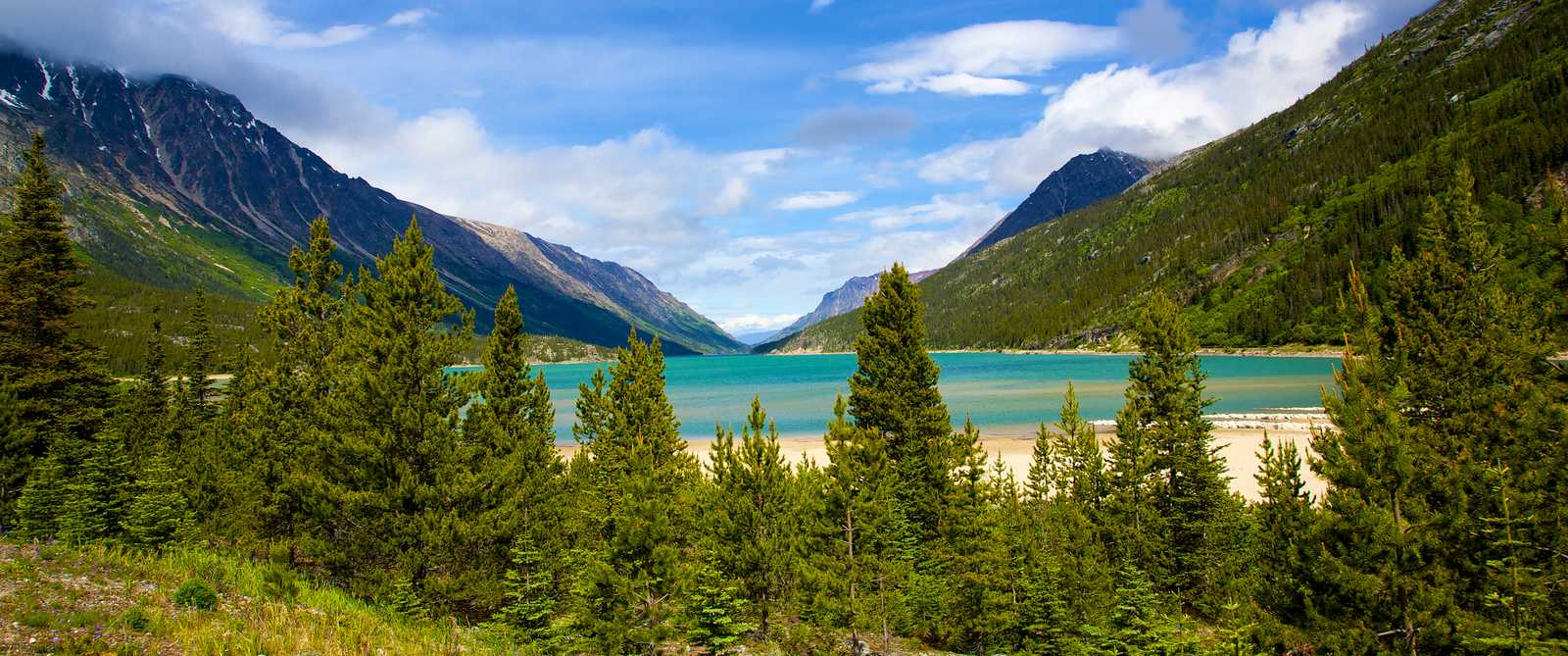 Lake Bennet in Yukon, Canda