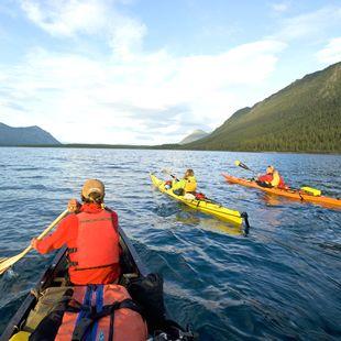 Der Lake Kluane im Yukon