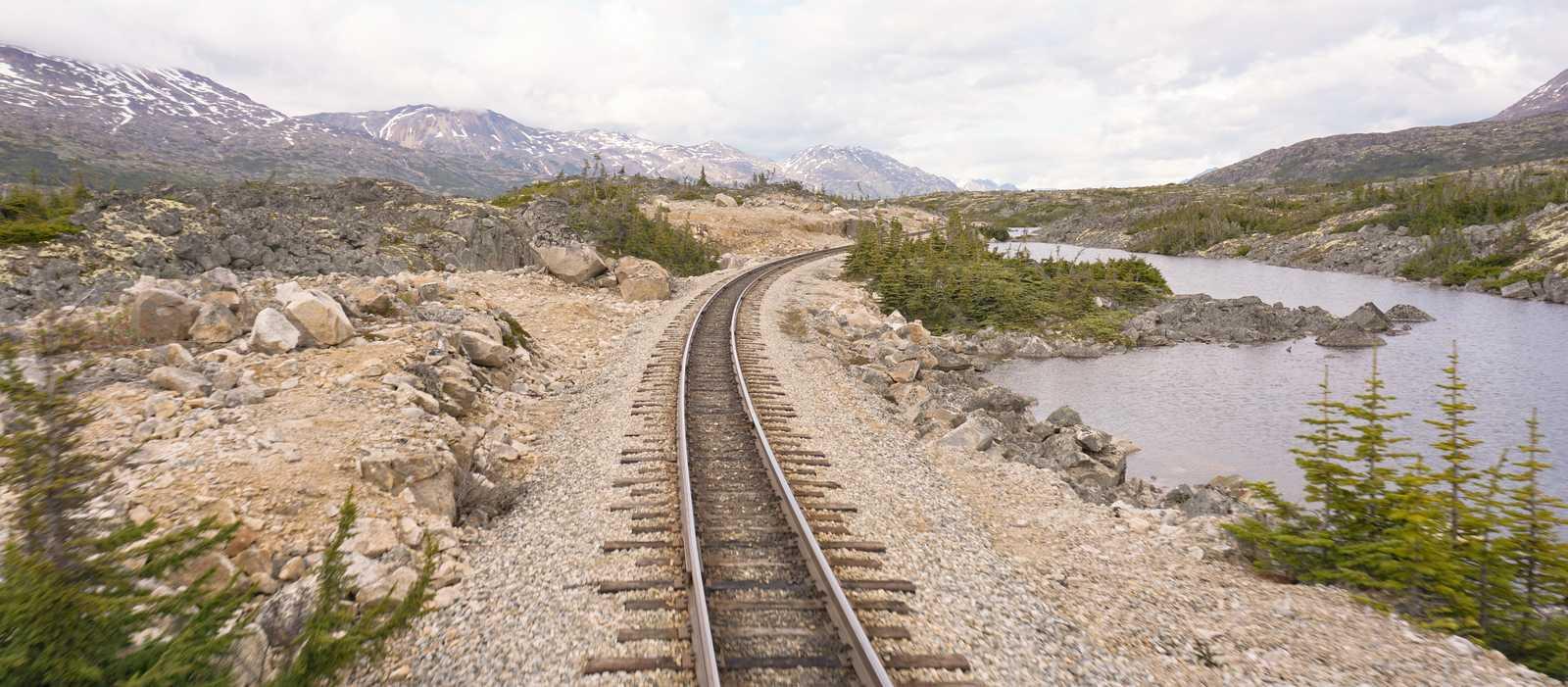 Streckenabschnitt auf der White Pass & Yukon Route
